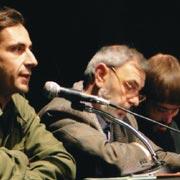 Roma dicembre 2003. Presentazione del libro Denio. Con Franco Ottaviano e Denio alla Casa della Cultura.